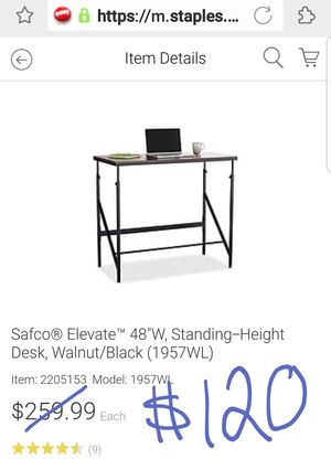 $120 OBO - New in box $260 Safco standing desk w/ very small blemish in back corner for Sale in Fairfax, VA