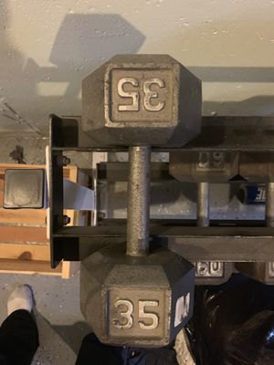 Weights 15lbs -60 lbs sold by set. for Sale in Oxford, MA