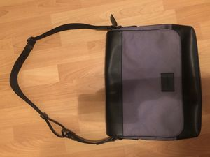 Coach men's cross body messenger bag in Nylon with smooth leather. In amazing condition, no scratches no marks. Hardly used. for Sale in San Diego, CA
