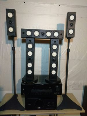 Yamaha complete surround sound with receiver and subwoofer for Sale in Montclair, CA