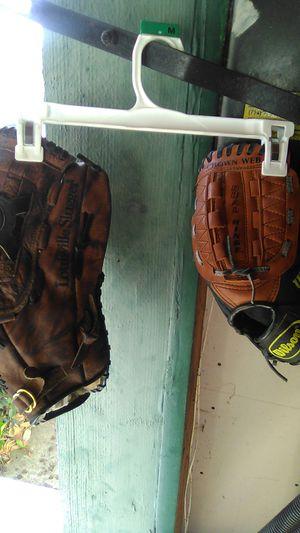 1ea Adult Louisville slugger glove 1ea Kids glove wilson both $25 for Sale in Fullerton, CA