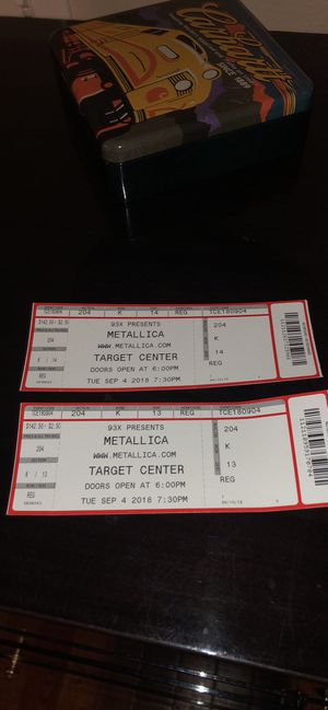 Metallica tickets for Sale in Florence, WI