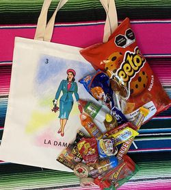 Mexican candy box (incluides a reusable bag) for Sale in San Jose,  CA