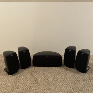Klipsch Quintet IV Home Theater Speaker System (Black High Gloss) for Sale in La Crosse, WI