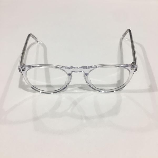 af191c03d50 Warby Parker Eyeglasses RX Frame HASKELL 500 Crystal Clear 49-22-145 ...