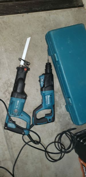 Makita hammer drill and sawsall work excellent for Sale in Goodyear, AZ