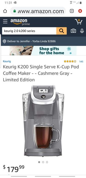 Keurig 2.0 K200 Plus cashmere for Sale in Yorba Linda, CA