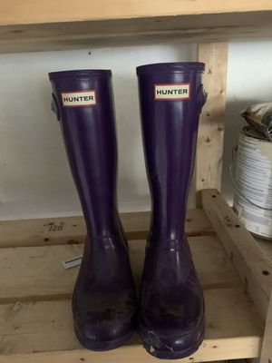 Girls hunter boots- size 5 for Sale in Lynnfield, MA