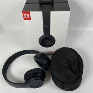 BEATS SOLO3 WIRELESS ON EAR HEADPHONES MATTE BLACK LIKE NEW for Sale in The Colony, TX