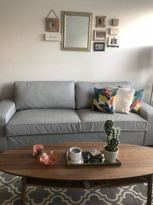 Baby Grey IKEA Sofa for Sale in Columbus, OH