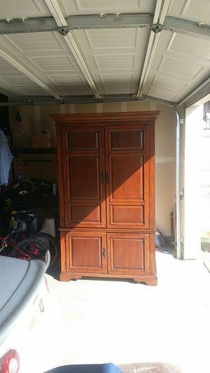 Hardwood Cabinet /computer desk /TV stand for Sale in Little Elm, TX