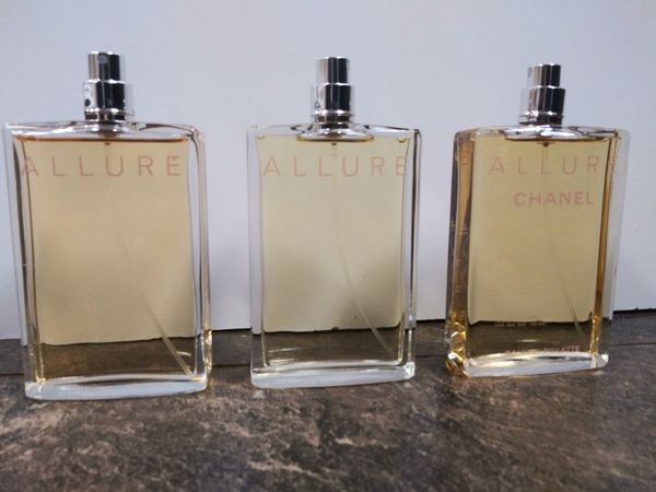 3 Chanel Allure 3.4 oz EDT New Womens Perfume