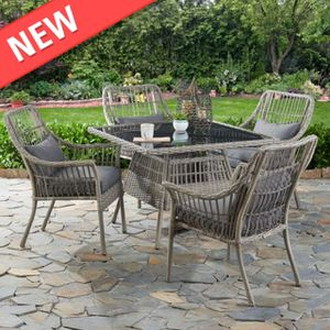 Modern Belfair 5-Piece Outdoor Patio Wicker Dining Set (Delivery via PayPal Invoice Only with Free Shipping) for Sale in Philadelphia, PA