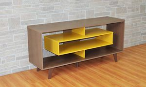 RUSTIC/YELLOW TV STAND for Sale in Hialeah, FL