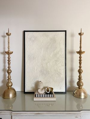 2 Tall Brass Candle Holders for Sale in Palm Harbor, FL