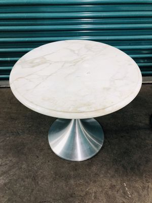MCM chrome and marble tulip style tables PAIR for Sale in Los Angeles, CA