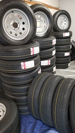 NEW TRAILER AND CAMPER TIRES/WHEELS STARTING AT $70+TAX AND UP ( SEE BELOW) for Sale in Douglasville, GA