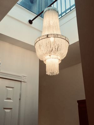 """French Art Deco/Gatsby style chandelier. 40"""" x 20"""" for Sale in Alexandria, VA"""