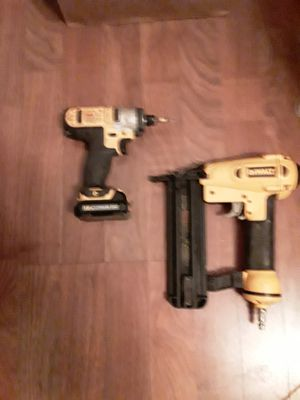 Dewalt nail gun and cordless impact for Sale in Eugene, OR