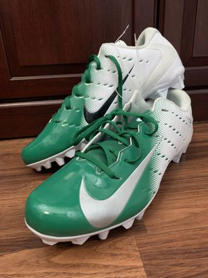 Nike Mens Vapor Untouchable Varsity 3 TD White Green Cleats Size 15 for Sale in Hialeah, FL