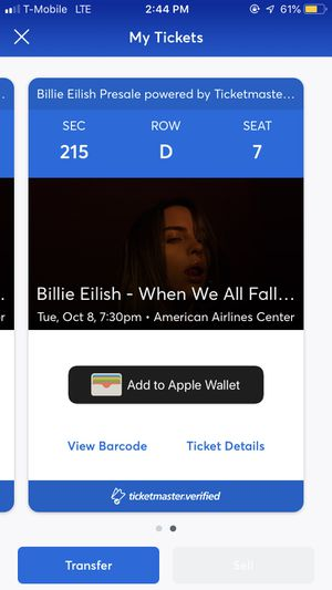 Billie Eilish Dallas for Sale in Mansfield, TX