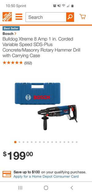 Bosch hammer drill for Sale in Florissant, MO