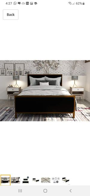 New Queen bed frame mattress not included for Sale in Charlotte, NC