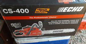Semi-new Echo 40.2 cc Gas- Powered Chainsaw CS-400 for Sale in Phoenix, AZ