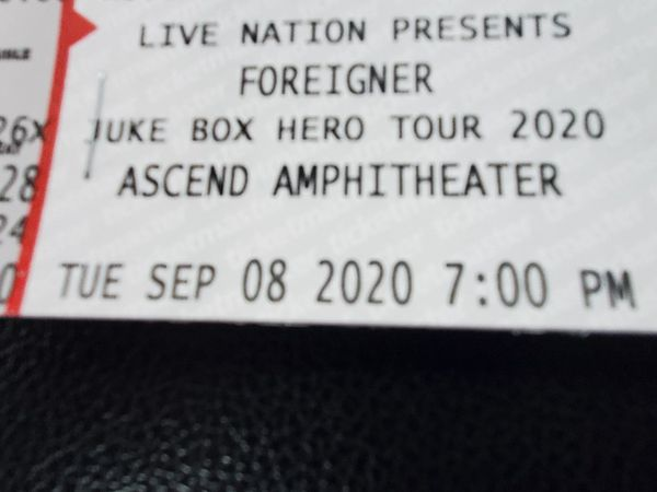 Foreigner tickets
