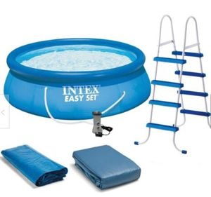 """Intex 15' x 48"""" Inflatable Easy Set Above Ground Swimming Pool w/ Ladder & Pump for Sale in Arlington, VA"""