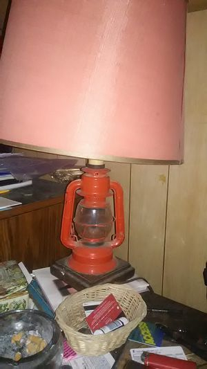 Antique red fire lantern lamp for Sale in South Park Township, PA