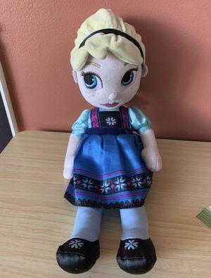 """Elsa Frozen Disney 12"""" Plush Animators Nice Condition! for Sale in Lemont, IL"""