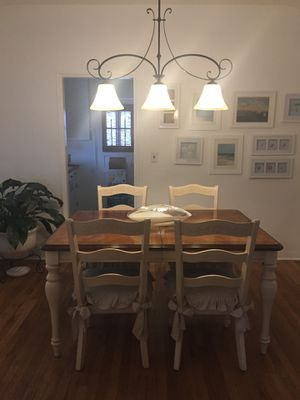 Dinner table with 4 chairs and lamp for Sale in Miami, FL