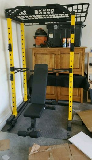 1000lb Squat Rack w/ bench and bar ALL ITEMS AVAILABLE SEPARATELY AS WELL for Sale in Petersburg, VA