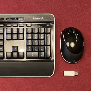 Microsoft WIRELESS keyboard 3000 and mouse 5000 with USB dongle BUNDLE COMBO for Sale in San Diego, CA