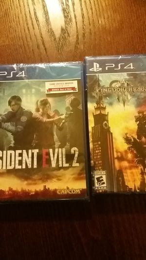 PS4 Games: Kingdom Hearts / RESIDENT EVIL 2 for Sale in Seattle, WA