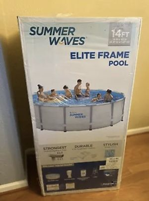 "Summer Waves Elite 14'x42"" Frame Pool with Filter Pump System BRAND NEW for Sale in Moreno Valley, CA"