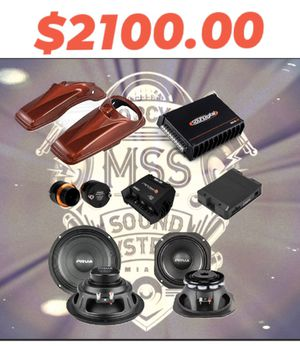 4-Speakers Pro-Audio Setup, Self-Install, Harley Davidson for Sale in Nashville, TN