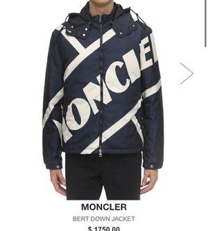 Moncler Men's Blue Bert Down Jacket for Sale in San Mateo, CA