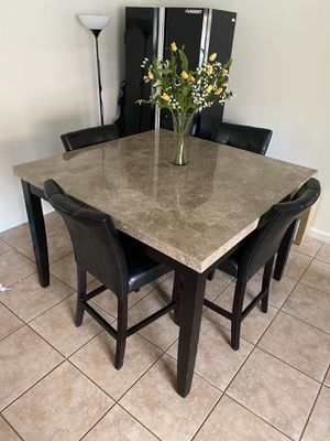 Solid Marble Dinning Room Table w/ chairs set for Sale in Pembroke Pines, FL