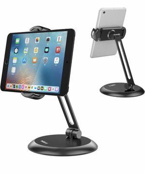 "Nulaxy Tablet Stand, Adjustable Tablet Holder with Heavy Metal Base, Desktop Mount Recipe Holder Stand Compatible with 4-11"" Phones, Tablets, iPad, N for Sale in Springfield, VA"
