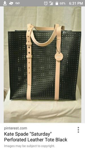Kate spade Saturday black and tan leather tote bag for Sale in Bloomington, IL