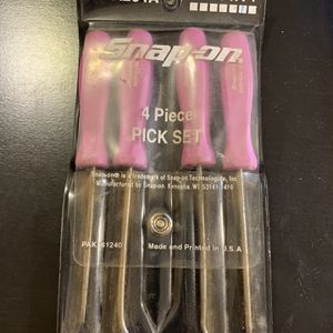 Snap On ASA204A Violet/Light Purple Hard Handle 4 pc Pick Set w/pouch for Sale in Monroe, CT