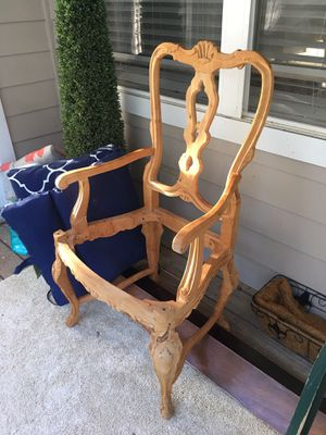 Gorgeous HAND CARVED OLID WOOD CHAIR FRAME for Sale in Morrisville, NC