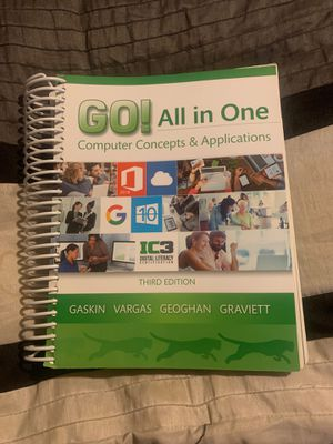Go all in one computer concepts and applications textbook for Sale in Downey, CA