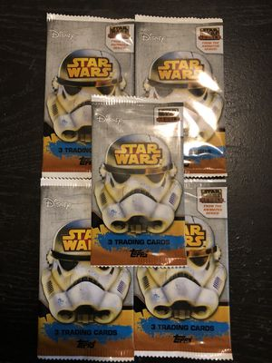 New 1 Pack Star Wars REBELS Disney Topps Cards Sealed Packages 3 Cards Per Pack for Sale in Wichita, KS