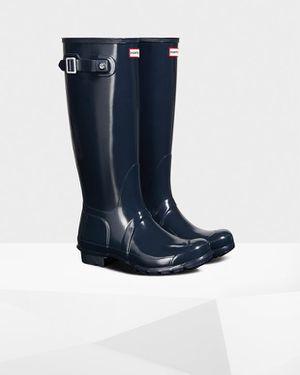 Women's Original Tall Gloss Rain Boots: Navy for Sale in Cedar Hill, TX
