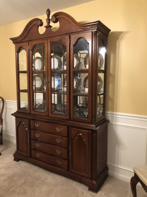Lexington - Formal dining table, 6 chairs, and a China Hutch. for Sale in Bloomington, IL
