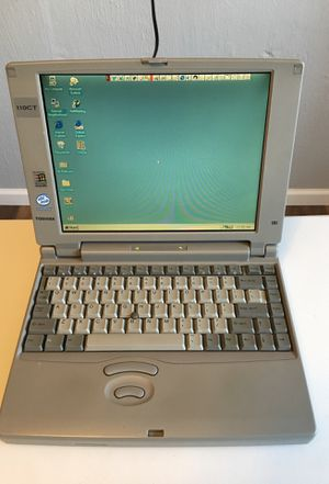 Toshiba Satellite 110CT. Vintage Laptop. Running Smoothly in Win 95' for Sale in Homer Glen, IL