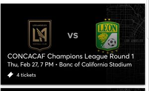LAFC vs Club Leon Concacaf Champions Round of 16... 02/27/2029 for Sale in Los Angeles, CA